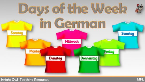 Days of the Week in German 1