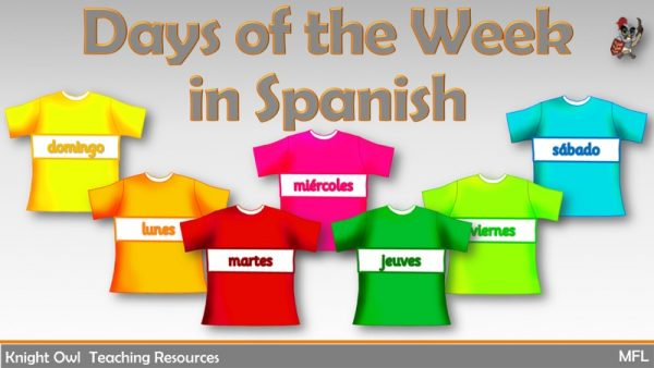 Days of the Week in Spanish 1