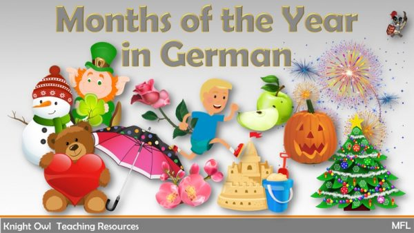 Months of the Year in German 1