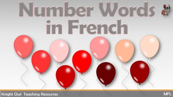 Number Words in French 1