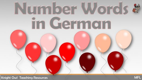 Number Words in German 1