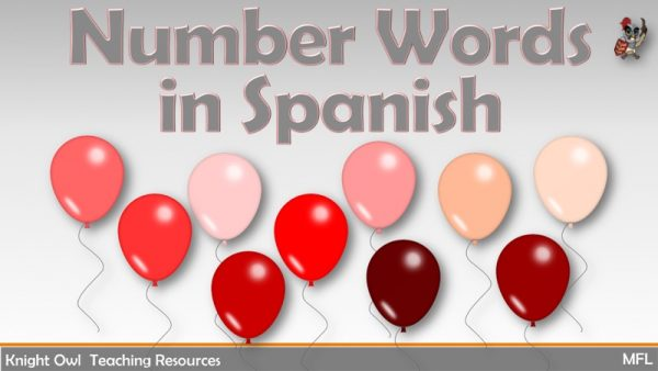 Number Words in Spanish 1