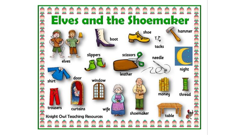 Elves and the Shoemaker Word Mat