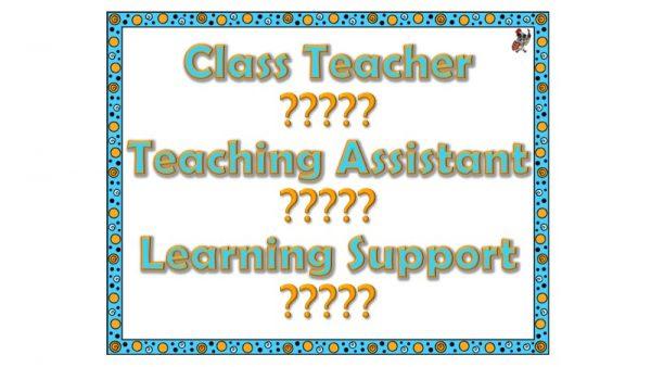 Class Teacher Poster (Blue)