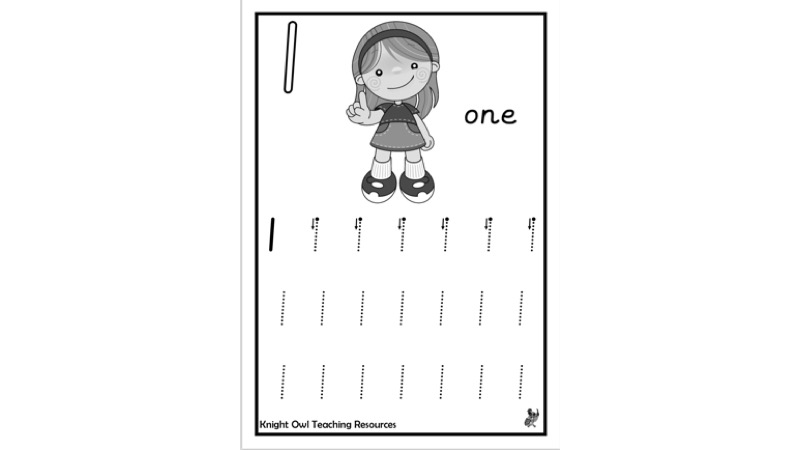 Number Formation Sheets – 0-9