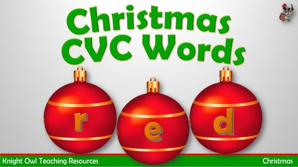 Christmas CVC words 1