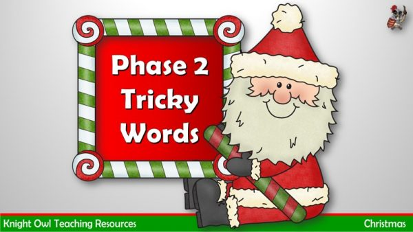 Christmas Phase 2 Tricky Words 1
