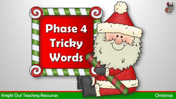Christmas Phase 4 Tricky Words 1