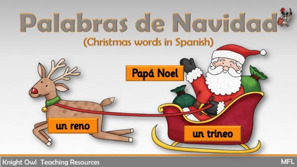 Christmas Words in Spanish 1